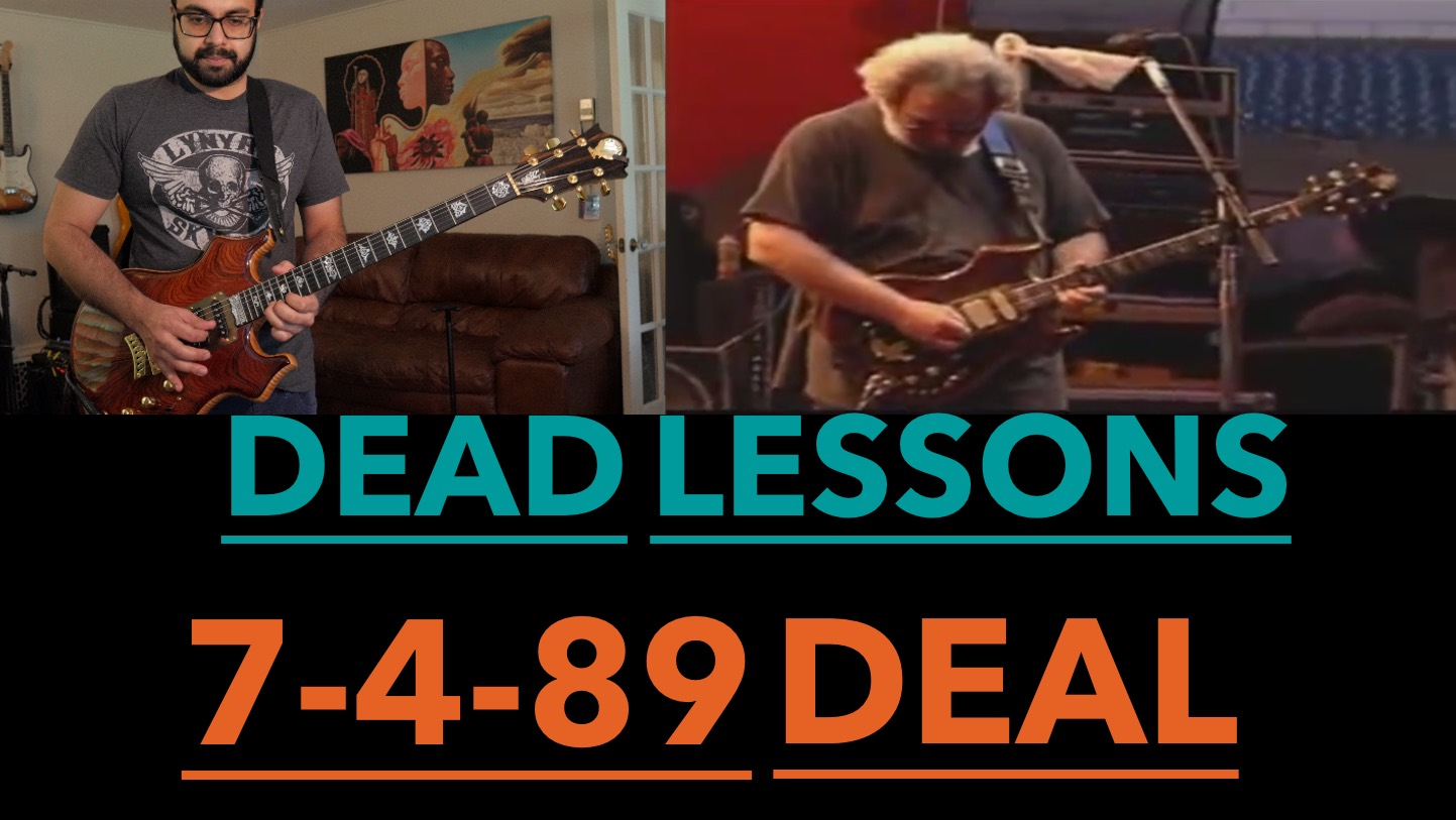 Jerry Garcia Guitar Lesson 7 4 89 Deal Solo With Tab Amarguitar