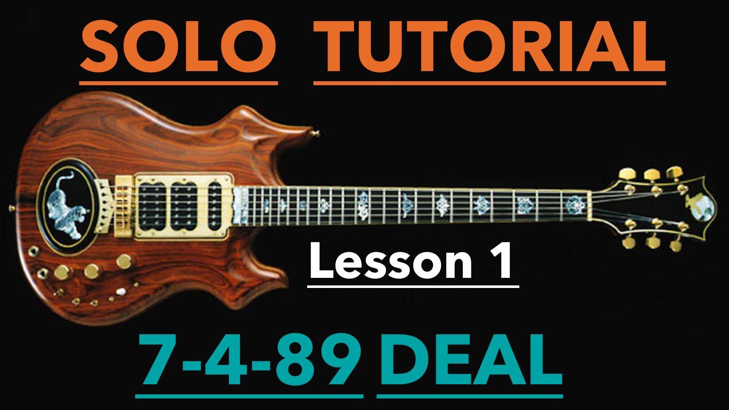 Grateful Dead Guitar Lesson 7 4 89 Deal Solo Lesson 1 Amarguitar