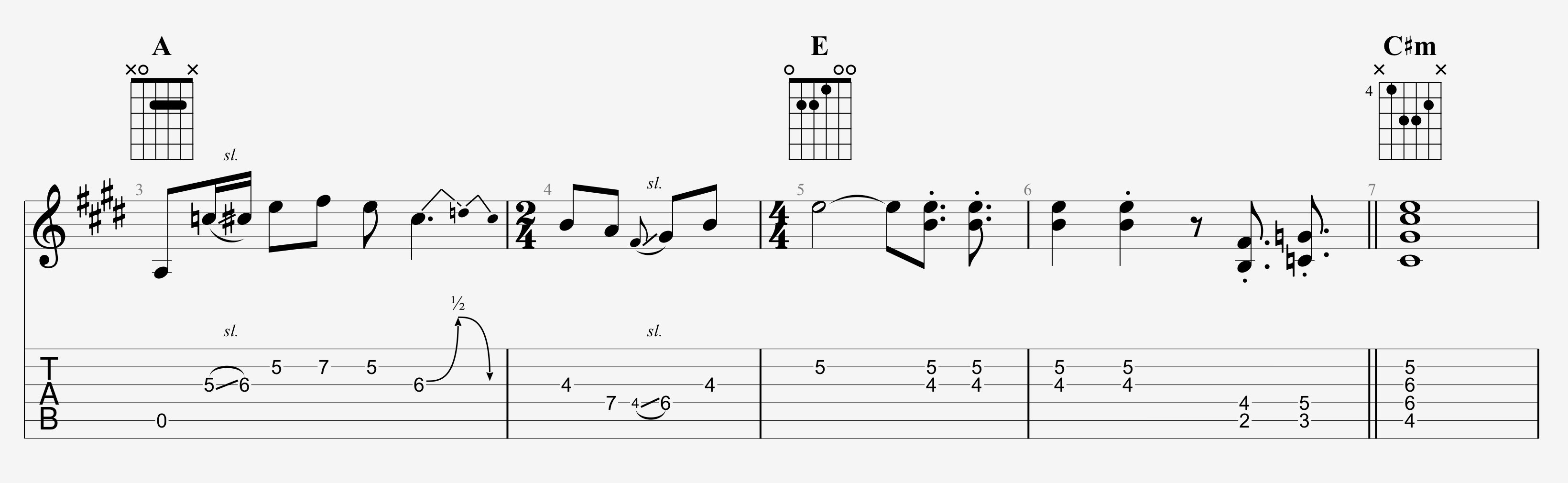 Dead And Company Guitar Lesson Brown Eyed Women Intro Solo Tab