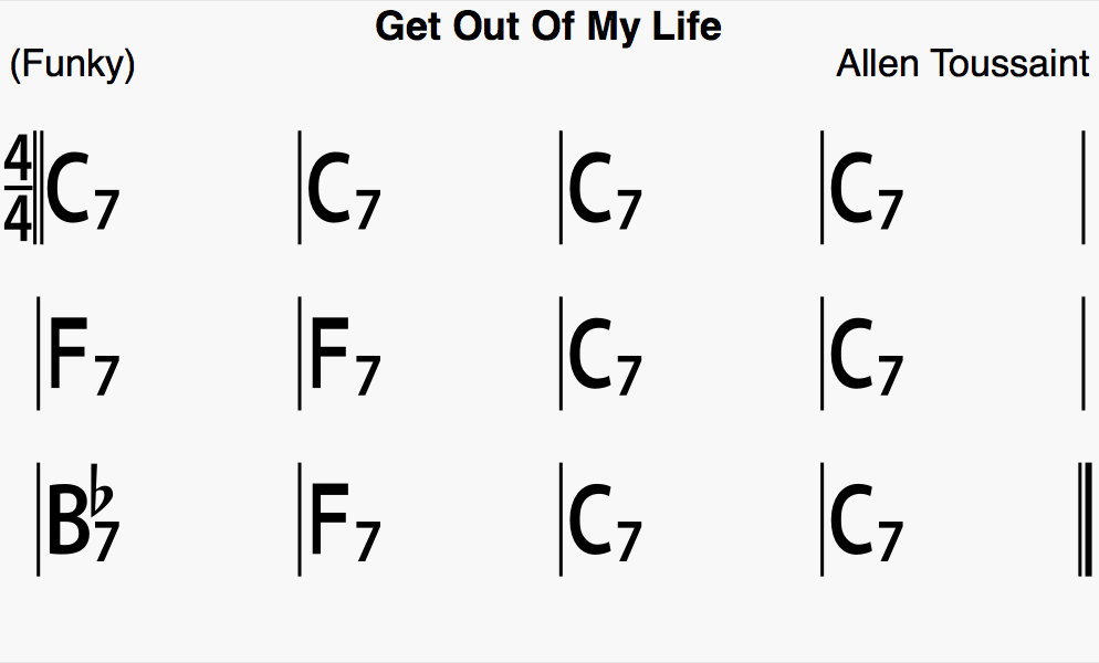 Get Out Of My Life Woman Chords - AmarGuitar